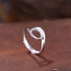 8x10mm Oval Ring Blank Adjustable 925 Sterling Silver Ring Base (R794B)