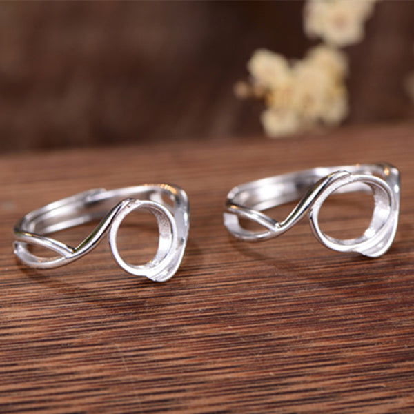 8x10mm/9x11mm/9x9mm Ring Blank 925 Silver Ring Base (R796B)