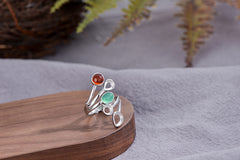 Ring Setting with 5 Blanks 925 Sterling Silver Ring Base (R969B)