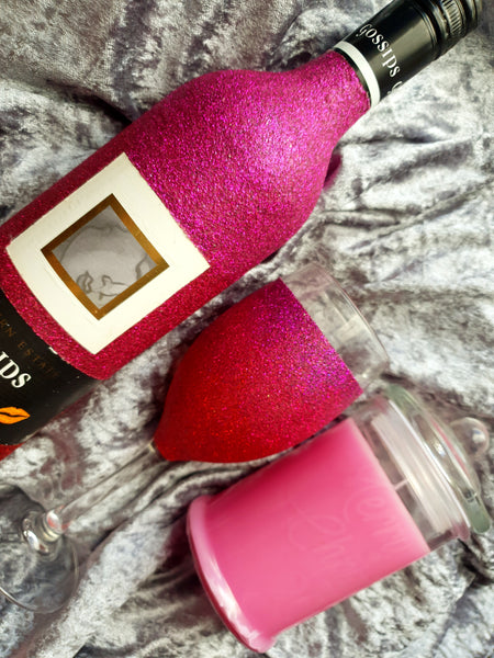 Personalised Wine Bottle, Glass and Candle Gift set - Suds N Stuff Australia