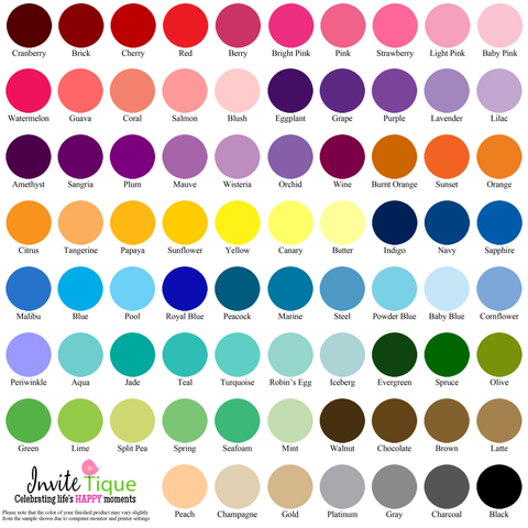 color chart, color picker