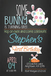 Bunny Egg Hunt Birthday Invitation - Invitetique