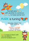 Airplane Birthday Invitations - Invitetique