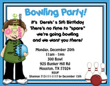 Bowling Birthday Invitations - Invitetique