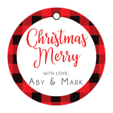 Buffalo Plaid Christmas Gift Tag