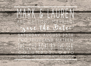 Vintage Simple Save a Date Announcements - Invitetique