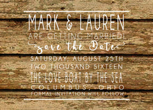 Rustic Wood Save the date announcements