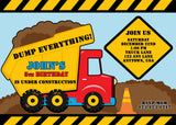 Boy Construction Birthday Invitations - Invitetique