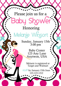 Modern Mom-to-be baby Shower We print - Invitetique
