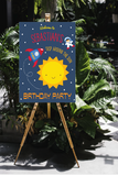 1st birthday around the sun yard sign digital