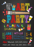 Colorful Artsy Birthday party invitations for any age - Invitetique