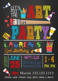 Paint Party Invitations - Invitetique