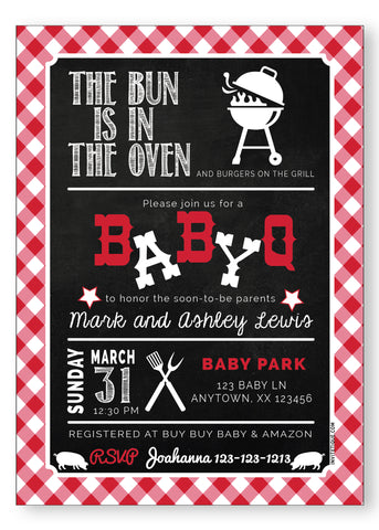 BABY Q Baby Shower Invitation - Invitetique