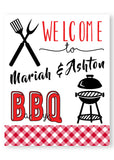 BBQ coed baby shower decoration, yard sign, BBQ party