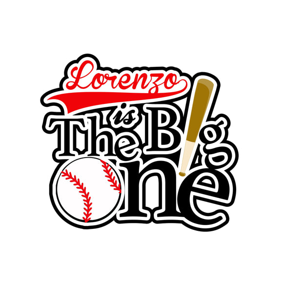 The Big ONE baseball smash cake topper