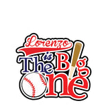 The Big One Baseball Cake Topper - Invitetique