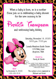 Minnie Mouse Cheetah Baby Shower Invitations - Invitetique