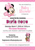 Minnie Mouse Baby Shower Invitations - Invitetique