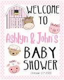 barnyard  baby shower party decoration