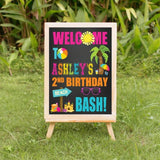 personalized beach bash welcome sign