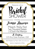 Bridal Shower Stripes Invitations - Invitetique