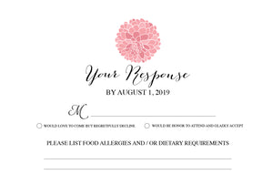 RSVP Card - Dahlias Botanical 247 - Invitetique