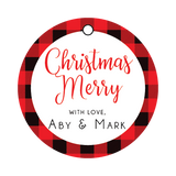 Buffalo Plaid Christmas Favor Tags, Gift tags, Buffalo tag