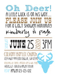 Little Buck Baby Shower Invitations - Invitetique