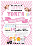 carnival pastel birthday invitation