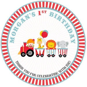 Circus Train Party Favor Tags - Invitetique