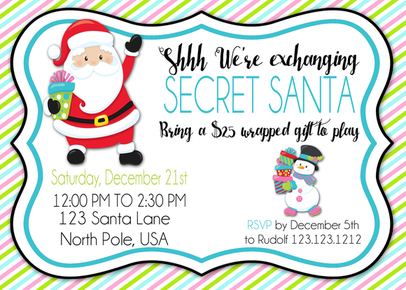 Gift Exchange Christmas Party Invitations - Invitetique