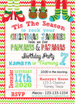 Pancakes and Jammies Christmas party Invitations - Invitetique