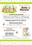 Classic Bear Winnie the Pooh Baby Shower Invitation - Invitetique