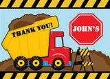 Truck Fill In the blank Thank You Cards - Invitetique