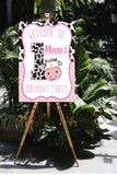 cow 1st birthday party sign