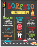 cute cars birthday personalized sign