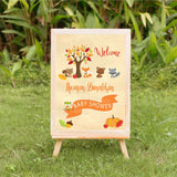 Fall Woodland Baby Shower Welcome Sign - Invitetique