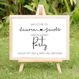 Engagement Party Welcome Sign Minimalist - Invitetique