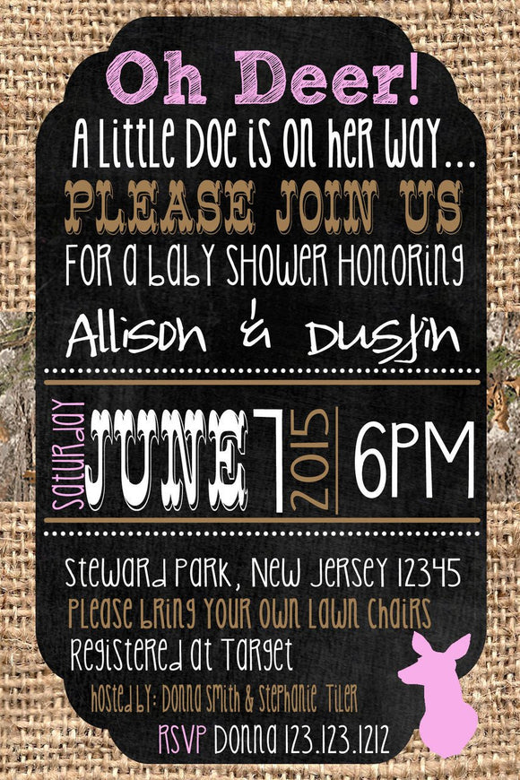 Doe Baby Shower Invitations - Digital - Invitetique