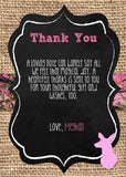 Doe Baby Shower Thank you notes - Invitetique