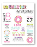 donuts pink girl birthday theme