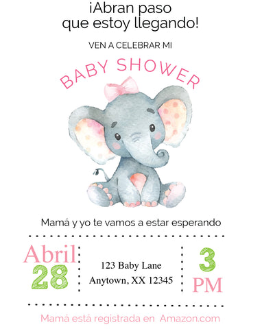 Sweet Baby Elephant Baby Shower Invitaciones - Invitetique