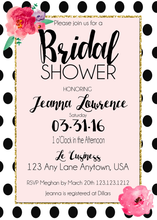 Kate spade inspired bridal shower invitations