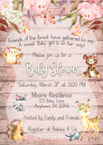 Enchanted Woodland Baby Shower Invitations - Invitetique
