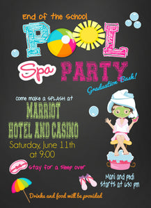 Spa Pool Party Bash Invitations - Invitetique