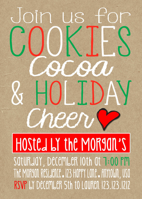 Holiday Goodies Party Invitations