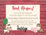 Farm Animals Bring a Book - Invitetique