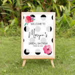Flower & polka dots welcome sign