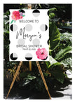 Floral welcome bridal shower party signage