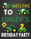 GREEN FARM TRACTOR BIRTHDAY SIGN